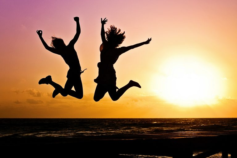 These two girls jump for their interval training.