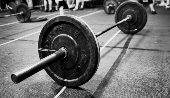 Barbells will be all over a CrossFit gym.