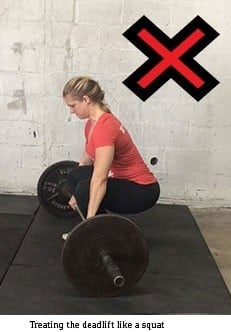 Squats are great, but don't deadlift like one as shown here.
