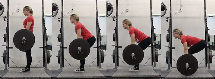 This series of photos shows the down progression of the deadlift.