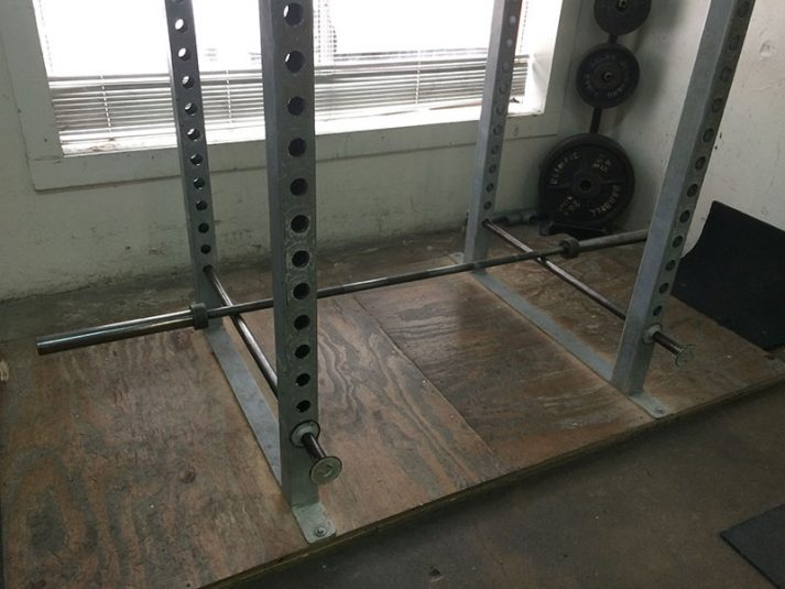 This picture shows a deadlift rack, great for...deadlifting!
