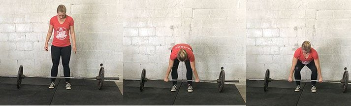 This series of photos shows you how to setup the deadlift.