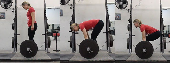This photo shows you the deadlift setup progression from the side.