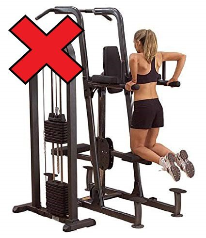You may see these at the gym, but our advice would be to use a resistance band instead of this contraption.