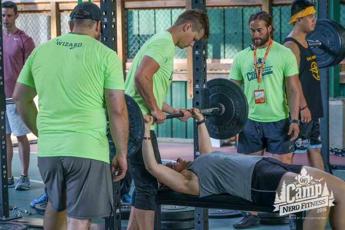 Make sure you always bench with a spotter. Seriously.