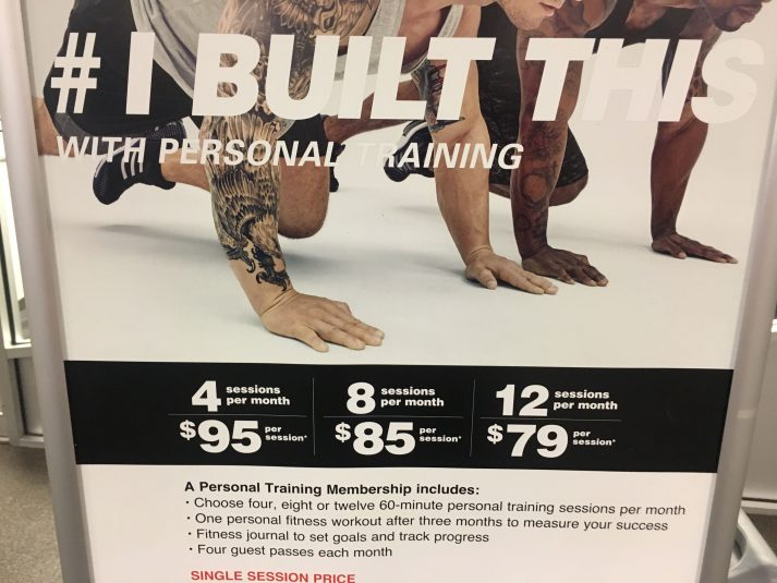 This is what one can expect to pay for personal training near NYC.
