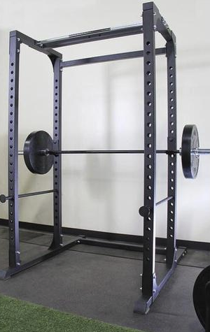 A squat rack like this is perfect for squatting.