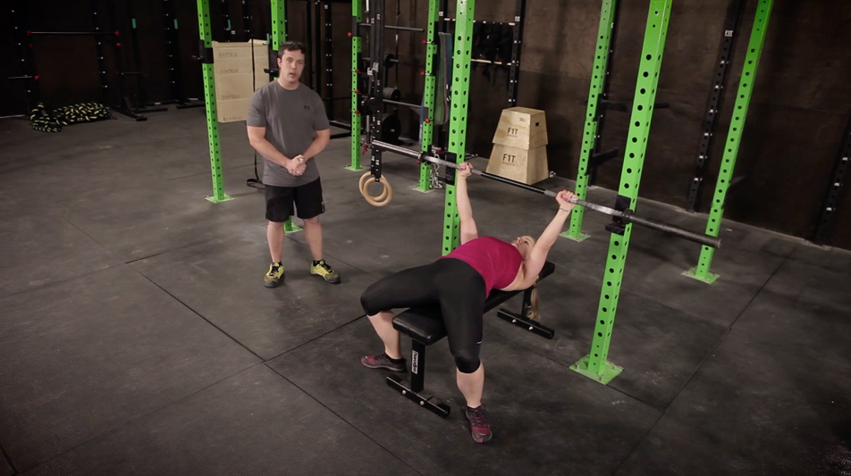Jim and Staci will walk you through the most important tip when using the bench press.