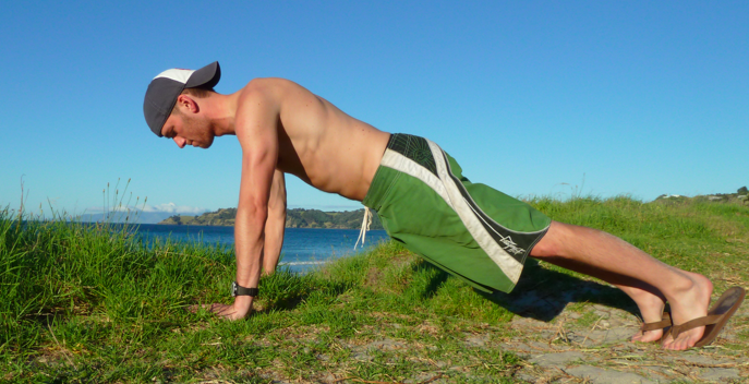 Another angle of showing how to setup a proper push-up.