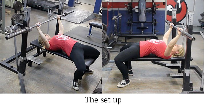 Your first step on proper bench press form looks like this.