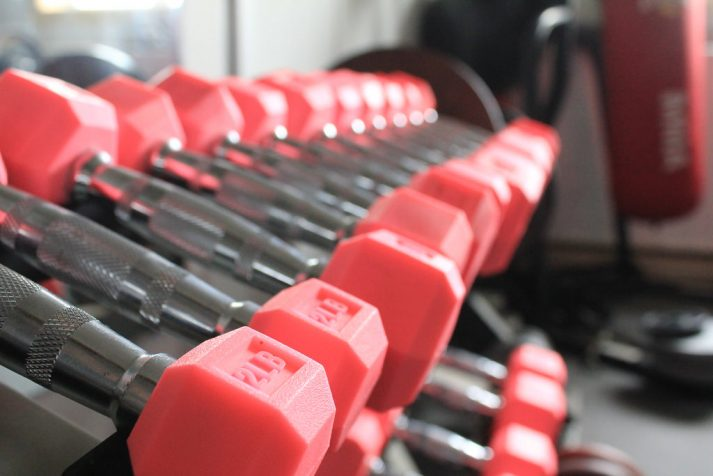 Free weights like these can help when building a workout.