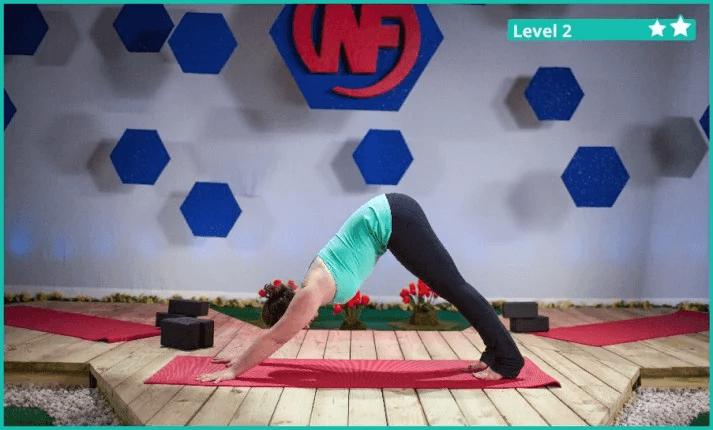 A yoga downward dog pose