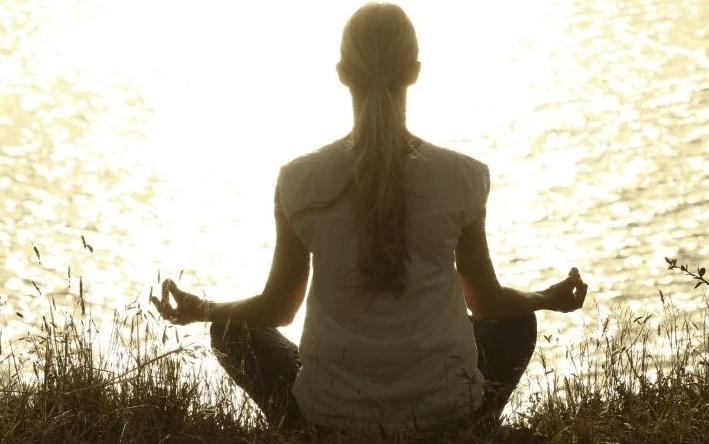 A yogi meditating