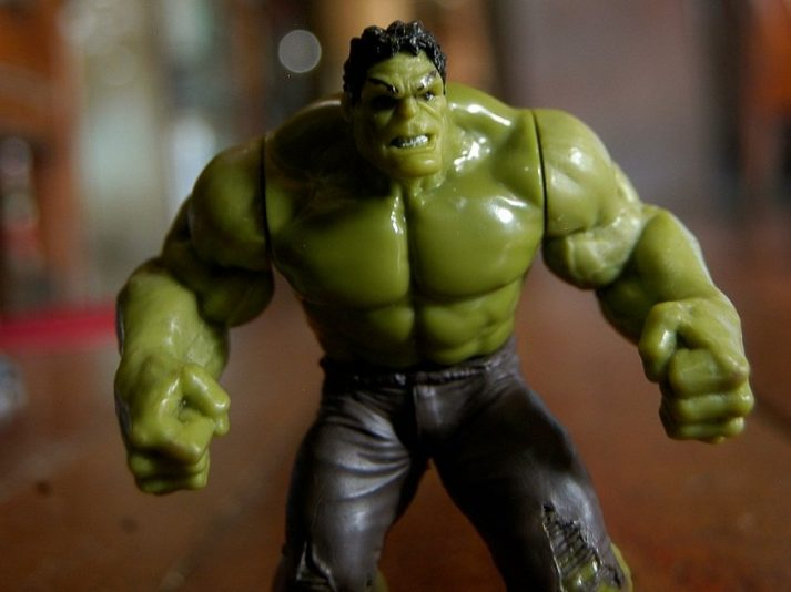 Bruce Banner can grow muscle really quickly. You'll have to take a slower path.