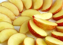 This plate full of apples is 200 calories.