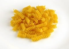 This handful of pasta is 200 calories.