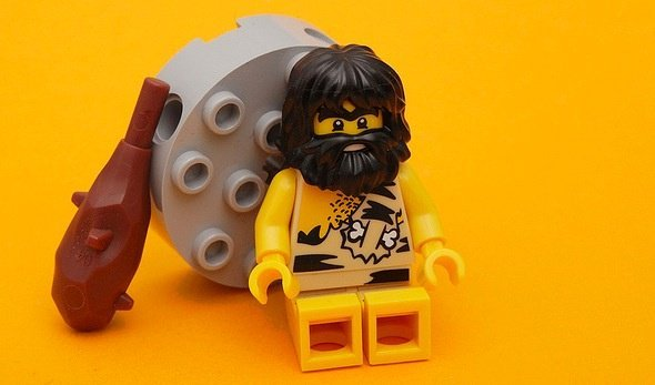 This caveman follows the paleo diet.