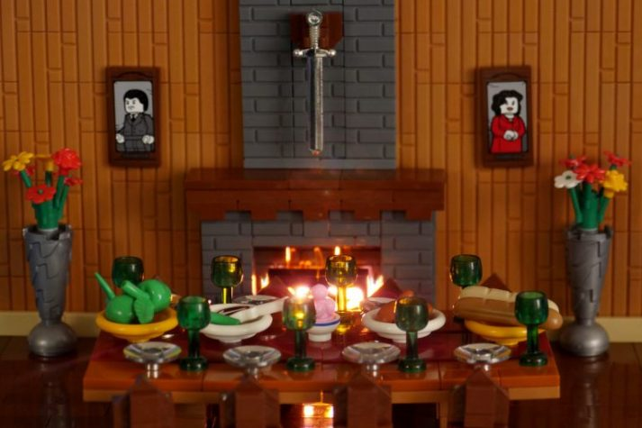 A table set for dinner.