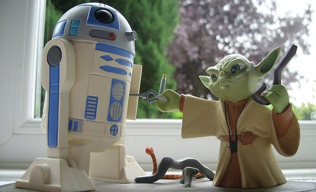 Yoda knows a lot about healthy eating (and fixing R2)