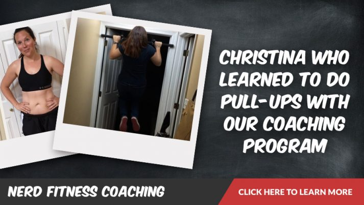 Christina learned to do pull-ups with NF Coaching
