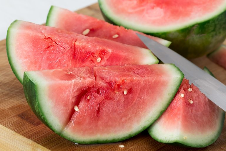 Watermelon is another fruit low in calories because it contains so much water.