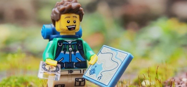 This LEGO knows all about staying in shape while he travels.
