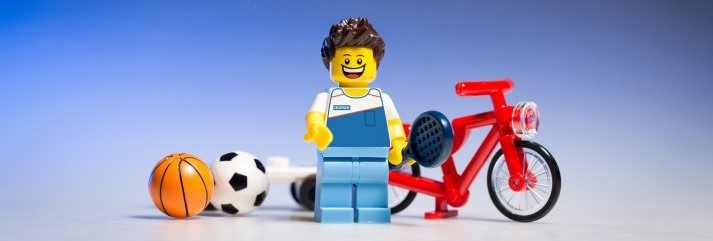 This LEGO is ready to play some sports! Should he stretch before or after his exercise?
