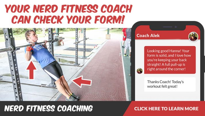 Banner de entrenamiento de Nerd Fitness