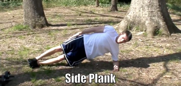 The side plank is a great beginner bodyweight exercise for your core