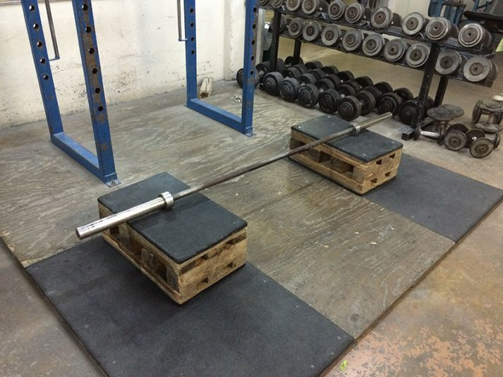 You can use all sorts of things to raise a deadlift bar up, like these boxes.