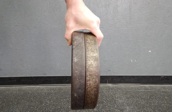 Try the pinching movement to improve grip strength