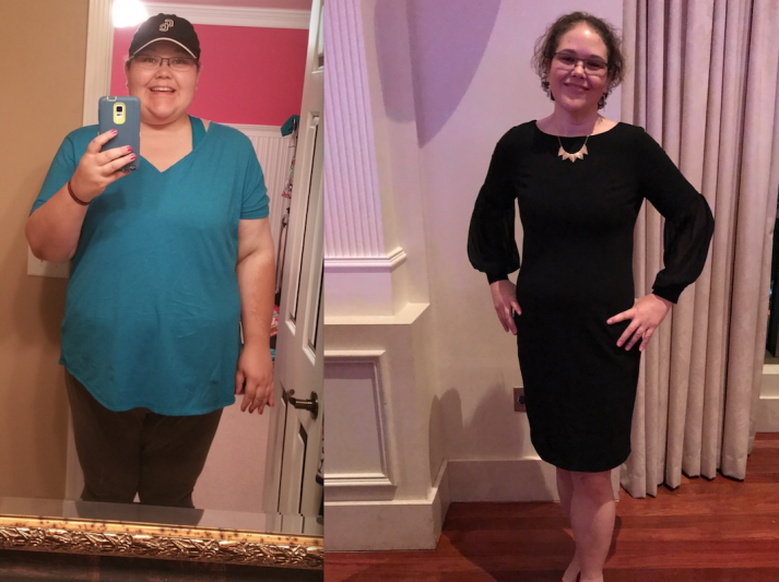 Jamie used an upcoming race as motivation for her weight loss journey.
