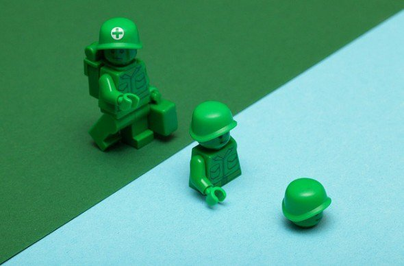 This LEGO soldier is dipping his toe into trying out the Paleo Diet. Will you?