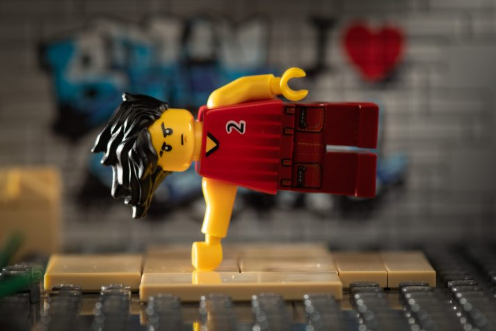 What's so cool about strength training? This LEGO knows it allows him to do tricks like this.