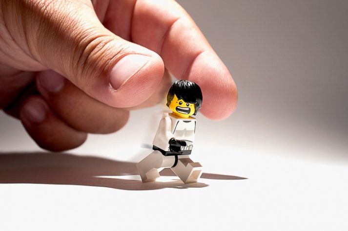This LEGO runs 5Ks while running from people who want to glue him to stuff.