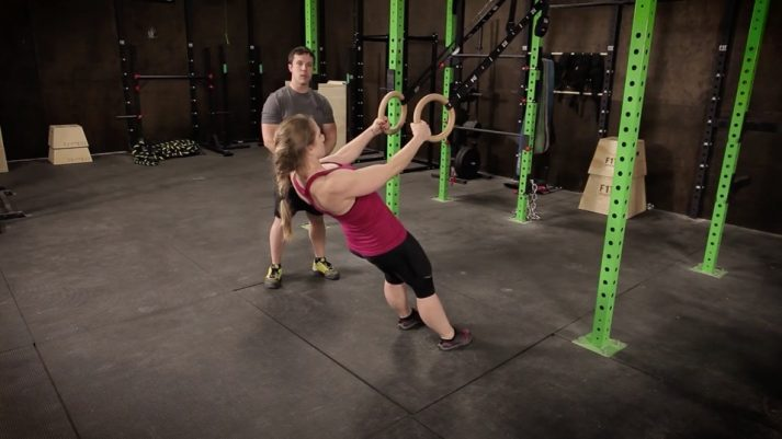 If you have gymnastic rings you can do an inverted bodyweight row like Staci here.