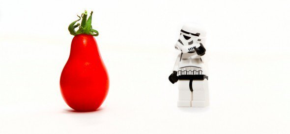 A Lego Storm trooper wants to know if a pepper part of a paleo diet?