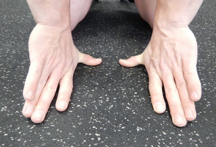 Do thumb stretches to improve hand health