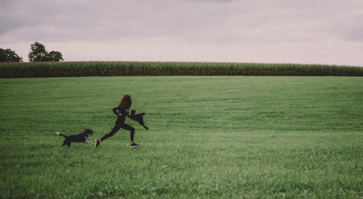 If you have to chase a dog, you'll be off the couch and running without even trying.