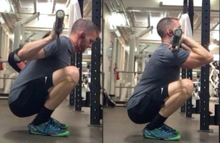 Your back position, knees, and shins are all used differently when comparing a front squat to back squat
