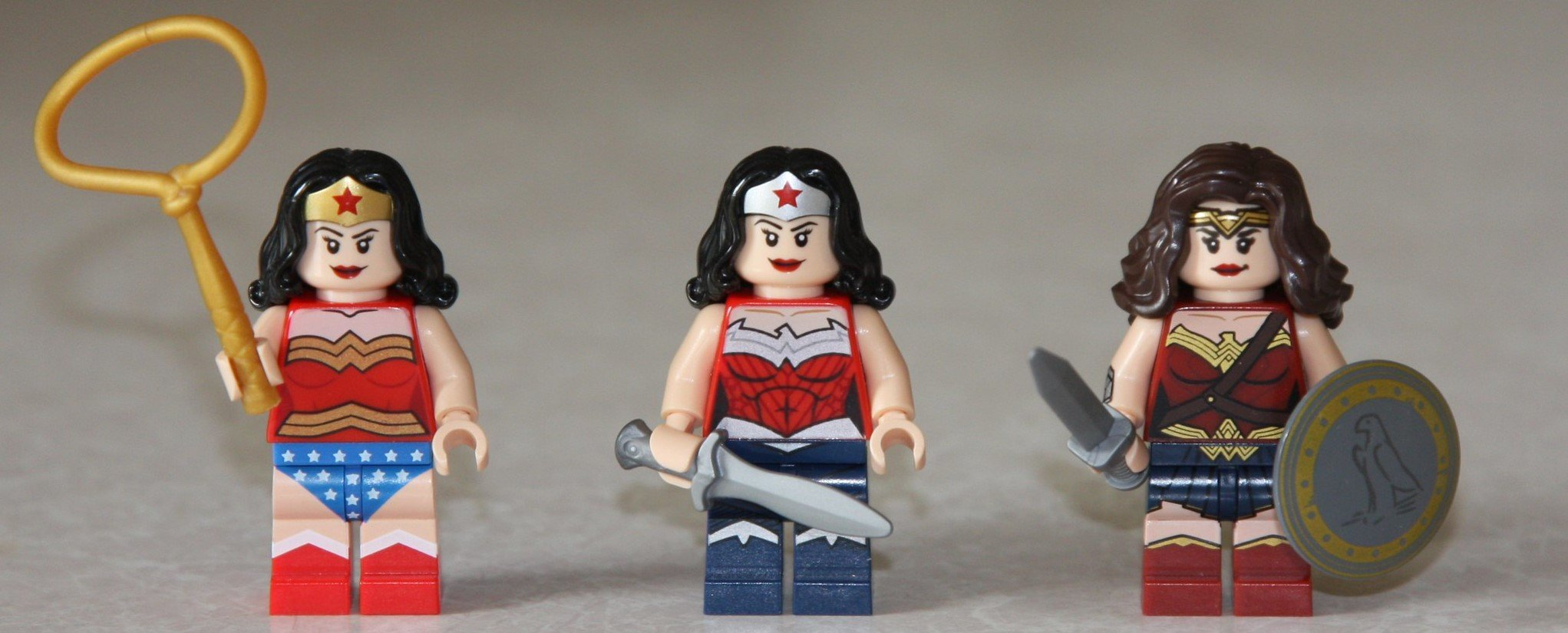 No matter which version of wonder woman it is, she always knows the fastest way to build muscle (fight for justice).