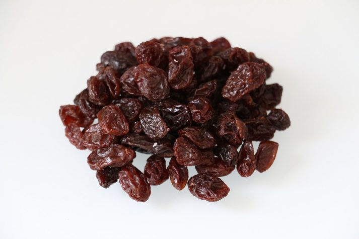 Since the water is taken out, raisins have a lot of sugar and calories.