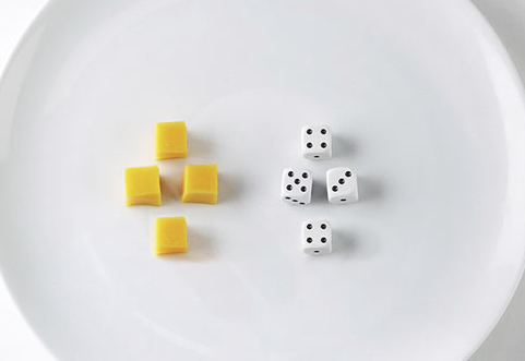 A serving of cheese is roughly the size of four cubes