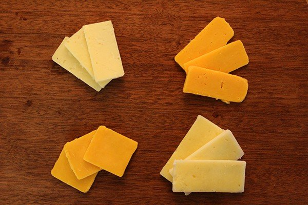 A serving of cheddar cheese is about 113 calories.