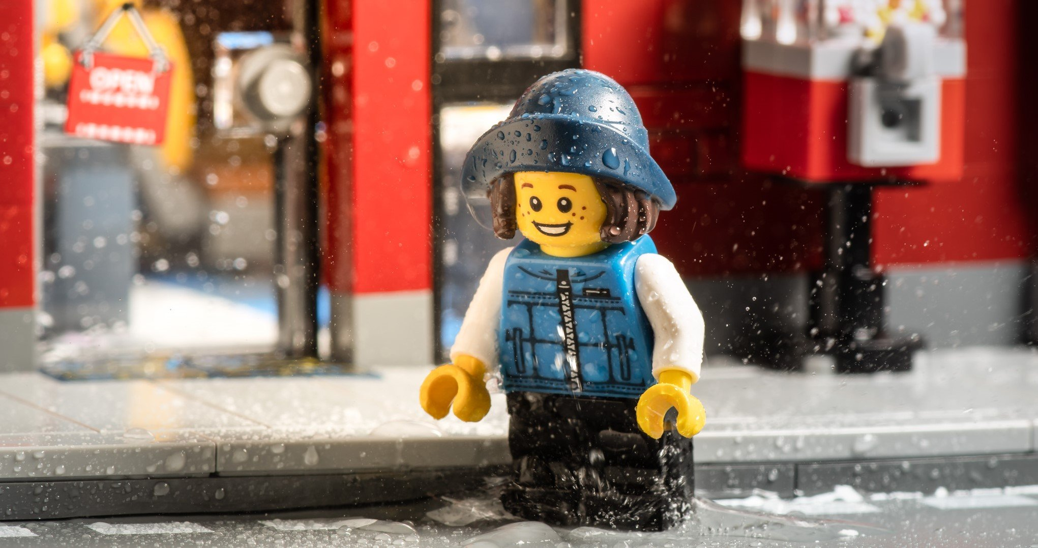 This LEGO has the right idea, jumping would fit into a HIIT workout. No rain required.