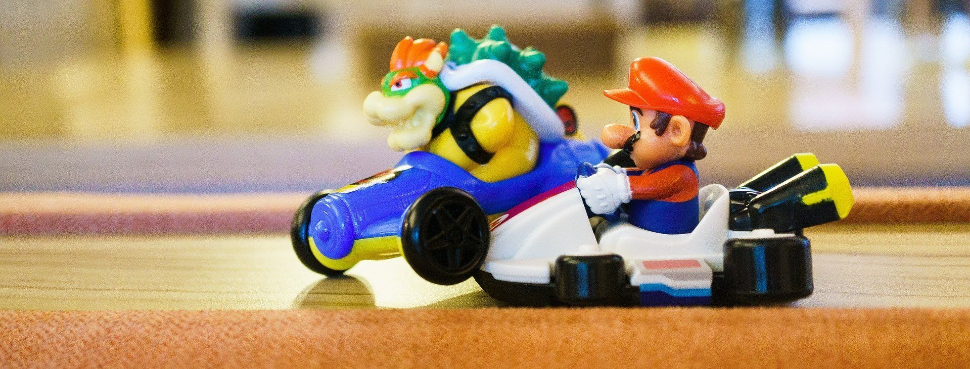 Two characters from Mario Kart