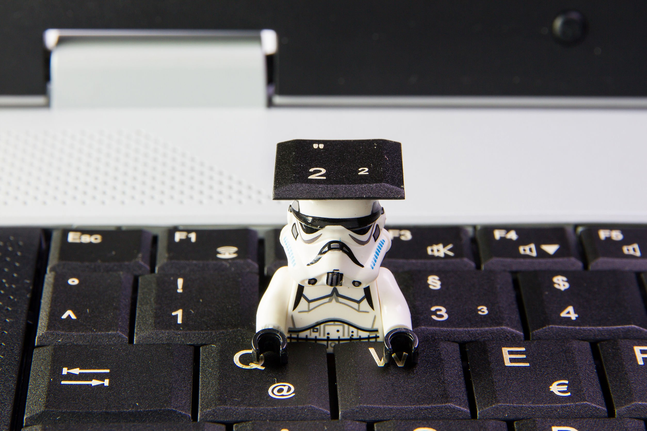 Lego star wars stormtrooper a sneak is key keyboard notebook.