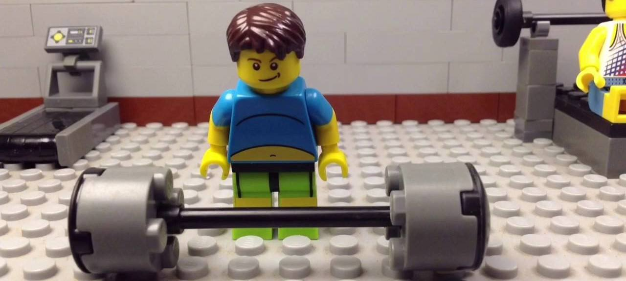 This LEGO has the right idea on the best strength training exercise.