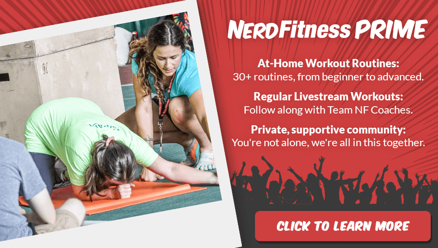 A banner advertising Nerd Fitness Prime