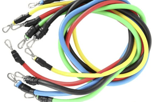 These tube bands are another common form of exercise bands.